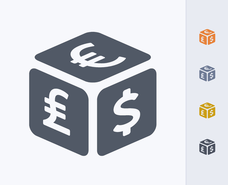 Currency cube icon