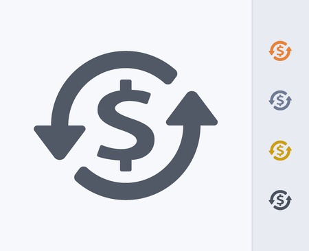 Geld concept pictogram Stock Illustratie