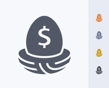 Money egg concept