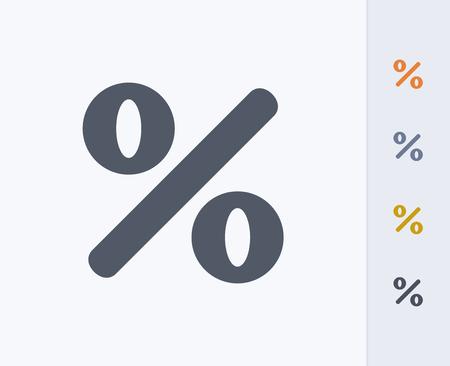 Percentage sign Ilustrace