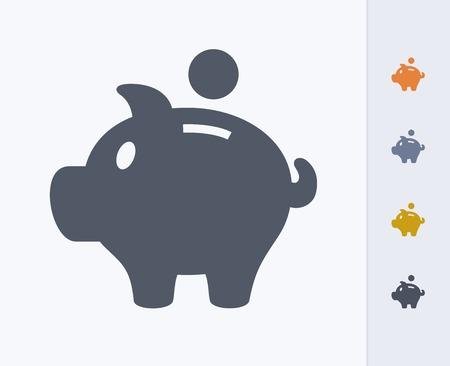 Piggy bank pictogram