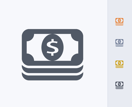 Stacked money icon Illustration