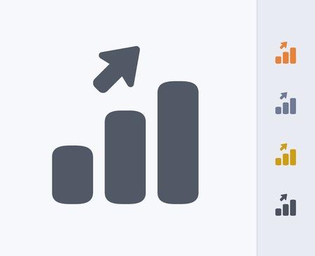 Upward trend icon