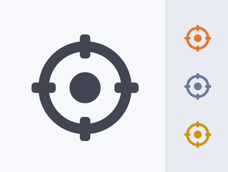 A professional, pixel-aligned target icon designed on a 32x32 pixel grid. 版權商用圖片 - 99703314