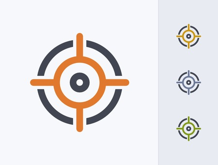 A professional, pixel-aligned target icon designed on a 32x32 pixel grid.