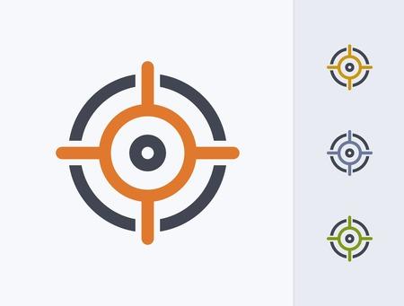 A professional, pixel-aligned target icon designed on a 32x32 pixel grid. 版權商用圖片 - 99703315