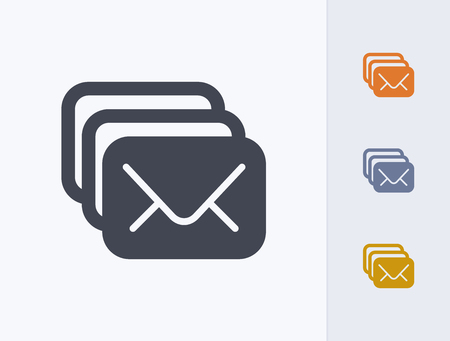 A professional, pixel-aligned email icon designed on a 32x32 pixel grid.