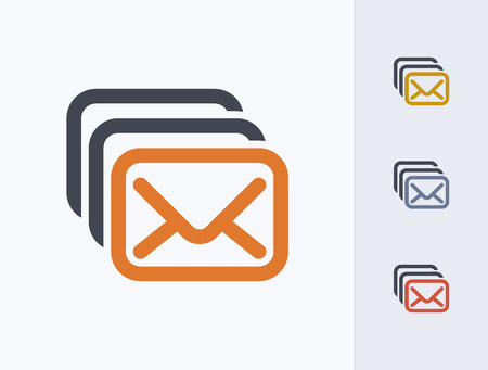 A professional, pixel-aligned email icon designed on a 32x32 pixel grid. 版權商用圖片 - 99703319