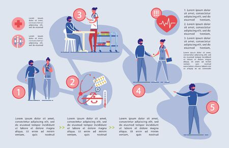 Healthcare and Medical Insurance Infographic Set. Ilustrace