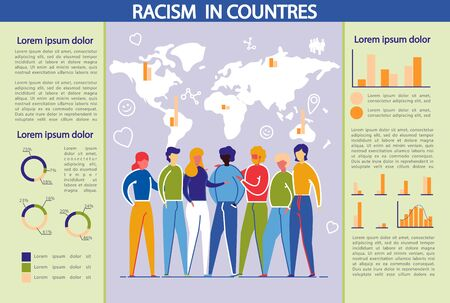 Racism And DIscrimination in Countries Infographic Stock fotó - 133926402