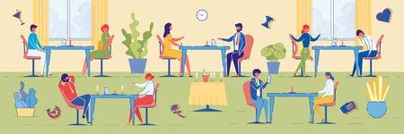 Speed-Dating-Event mit Leuten im Lounge-Raum.
