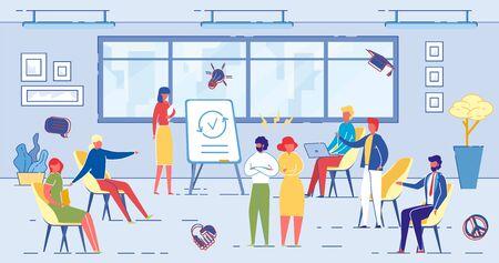 Work Team Discussion , Office Employees Conflict. Ilustração