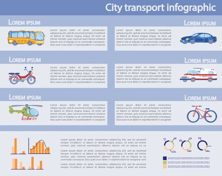 City Private and Public Transport Infographic Set.