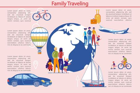 Family Traveling and Outdoor Activity Infographic