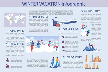 Winter Vacation, Infographic Illustration. Ilustração