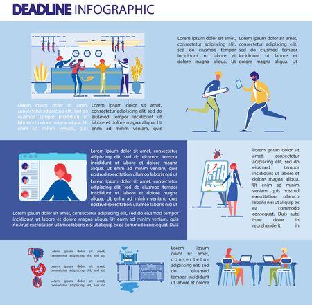 Illustration Deadline Inscription, Infographic.
