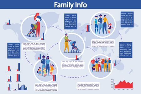Infographic Set. Family Structure Presentation.