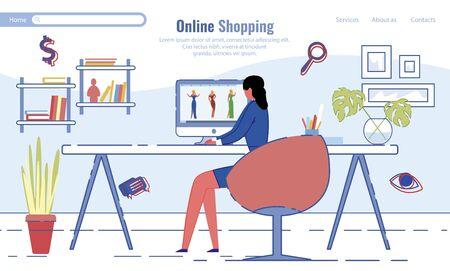 Online Shopping Service Commercial Landing Page