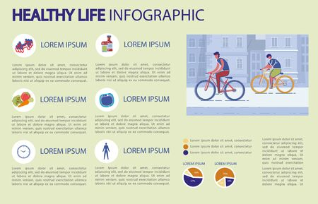 Healthy Life Infographic, Statistics and Benefits.