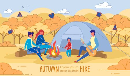 Getting Outside as Family. Autumn Hike Banner.