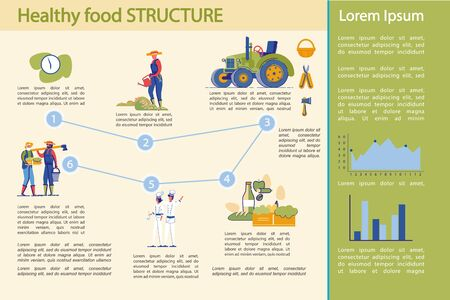 Healthy food Production and Industry Infographic. Foto de archivo - 138147092