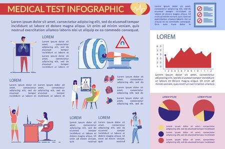 Passing an Annual Medical Clinic Test Infographic. Vector Illustratie