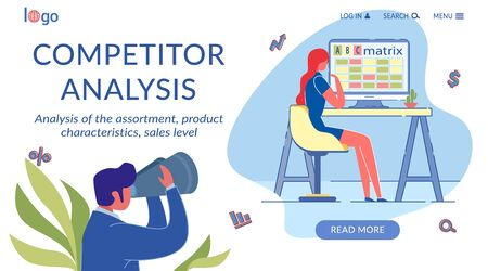 Competitor Analysis Flat Landing Page Template