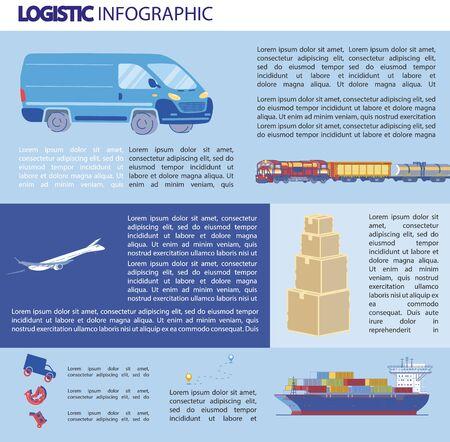 Logistics Infographics, Bulky Transportation.