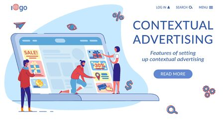 Contextual Marketing Landing Page Flat Template