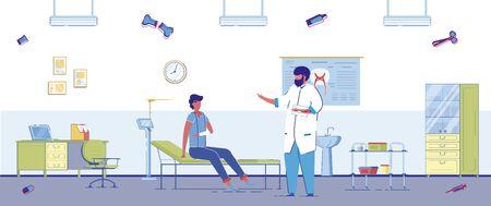 Illustration Examination in Office Traumatologist.