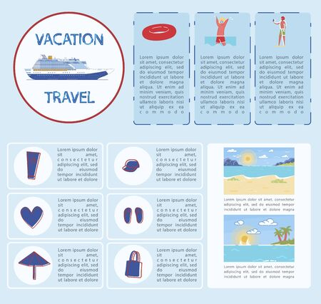 Banner Vacation and Travel Infographic, Cartoon.