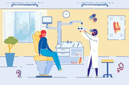 Surgery to Restore Vision or Optometrist Check. Illustration