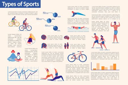 Kinds of Sport and Workouts Types Infographic Set.