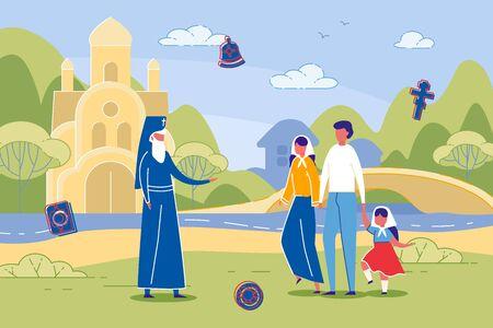 Eastern Orthodox Christians Talking to Presbyter