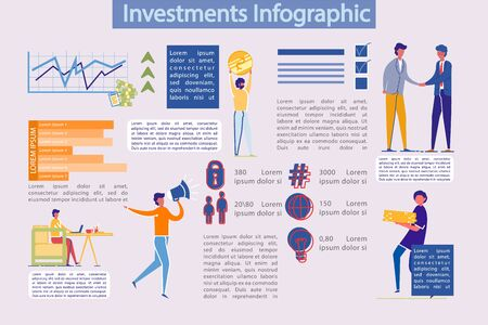 Business Investments, Profit from Money Investing. Illustration