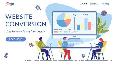 Website Conversion Landing Page Flat Template
