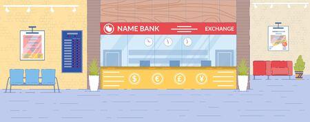 Currency Exchange Department Interior Backdrop