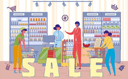 Sale Day in Shopping Mall Word Concept Banner