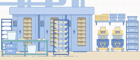 Bakery Industry Equipment. Bread and Dough Food.