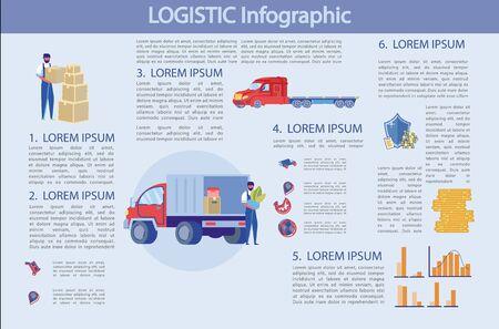 Logistic Infographic, Profitable Business, Slide.
