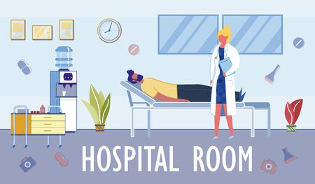 Comfortable Hospital Ward Conditions for Patients.