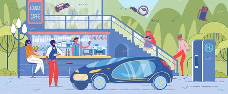 Electric or Hybrid Ecological Car Arouses Interest
