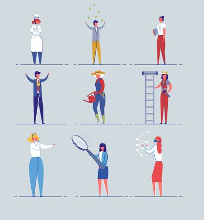 Various Professions and Occupations Vector Set.