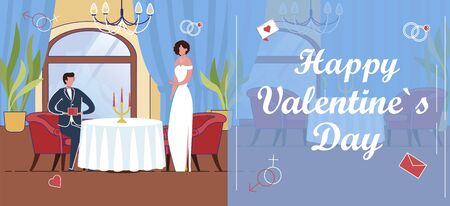 February Valentines Day Greeting Banner or Flyer.