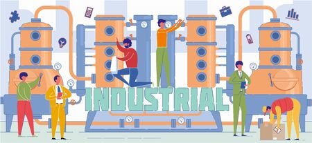 Industrial Economy Sector Word Concept Banner