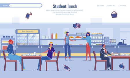 Student Lunch Program Design for Landing Page