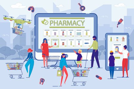 Visitors Choose Medicine, Shop at Modern Pharmacy.