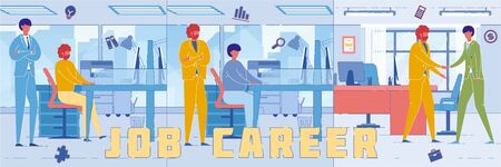 Workers Path up Career Ladder Word Concept Banner