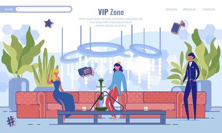 Vip Zone Waiting Room Lounge Area Webpage Design