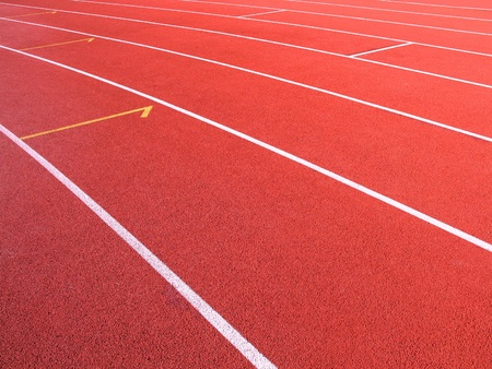 Abstract View Of Running Tracks In A Sport Stadium